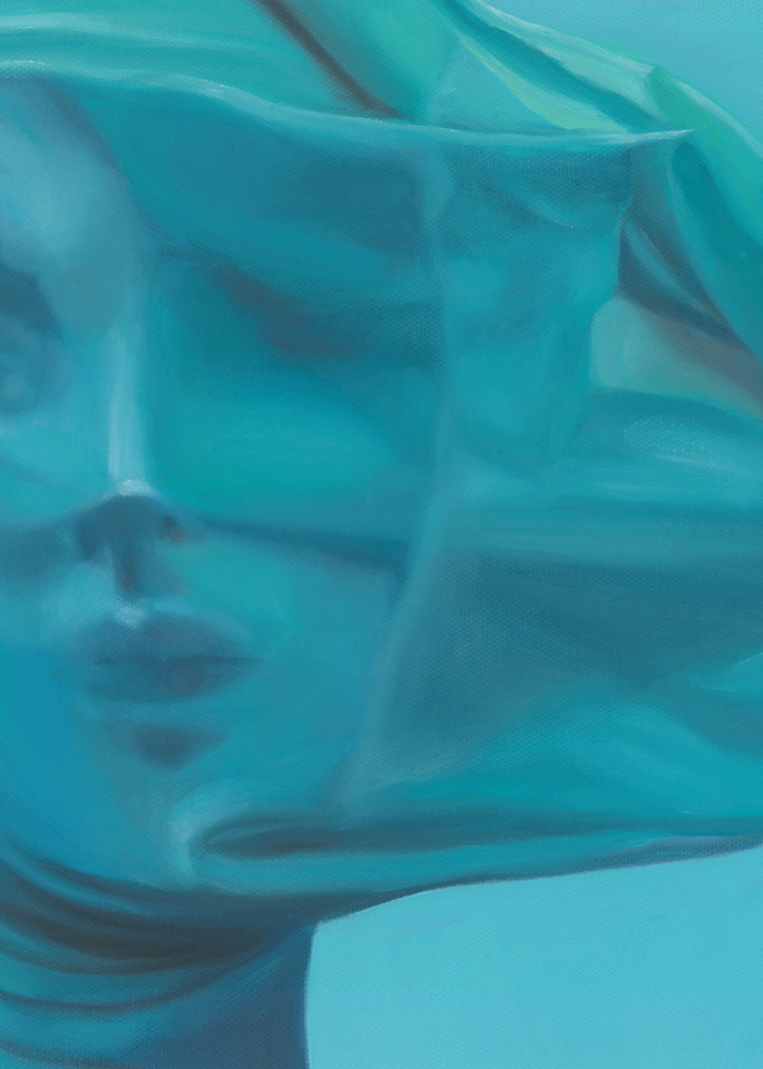Carrington Arts - blue figurative painting
