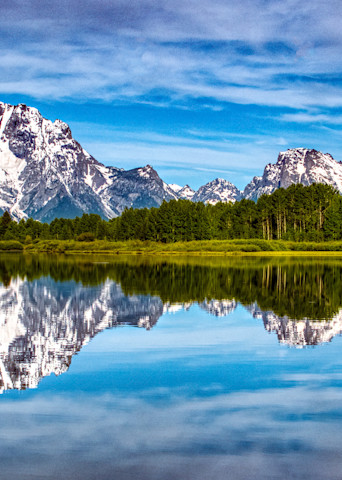 Nice reflection at Oxbow Bend in Grand Teton National Park.
