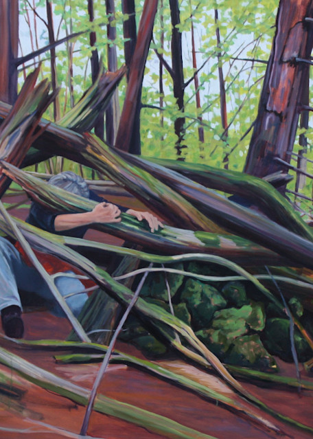 Woman In A Thicket Art | Lidfors Art Studio