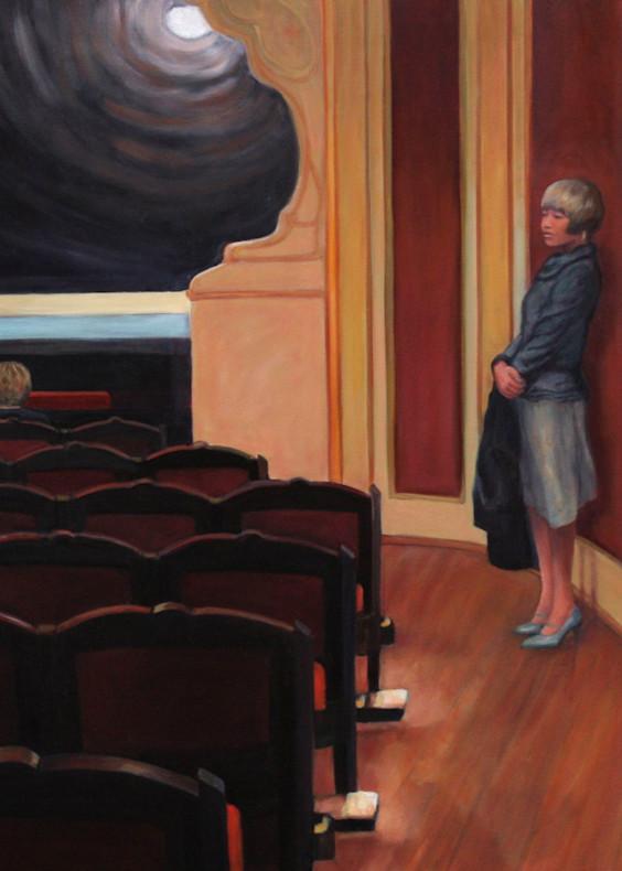 Waiting In The Theater Art   Lidfors Art Studio