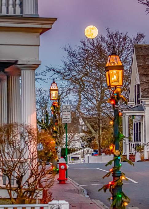 North Water Street  Cold  Moon Art | Michael Blanchard Inspirational Photography - Crossroads Gallery