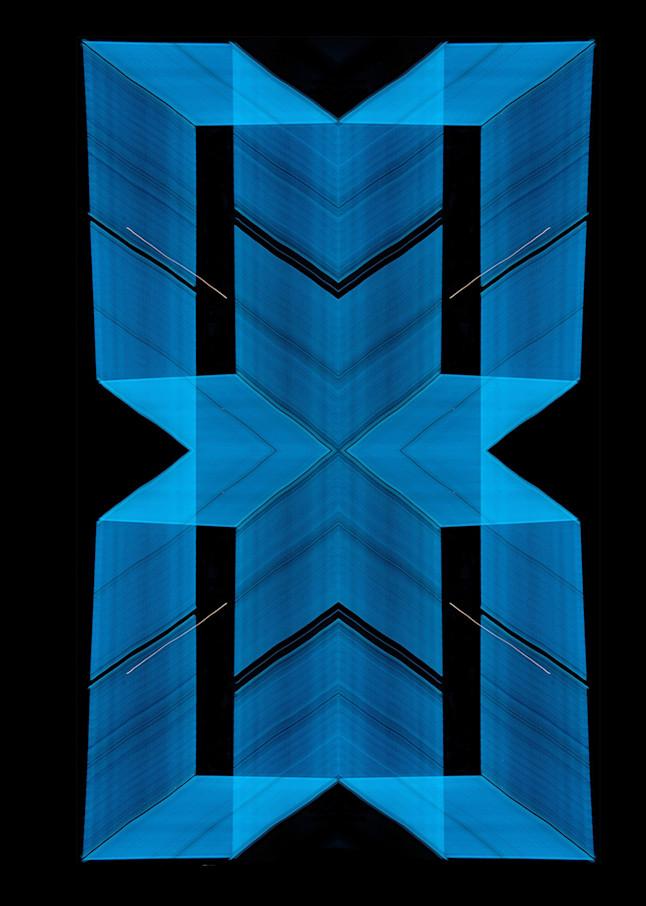 Blue Neon Light Painting Pattern Photography Art | David Louis Klein