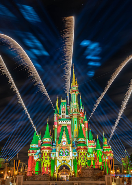 Christmas Fireworks 4 From Main Street Photography Art | William Drew Photography