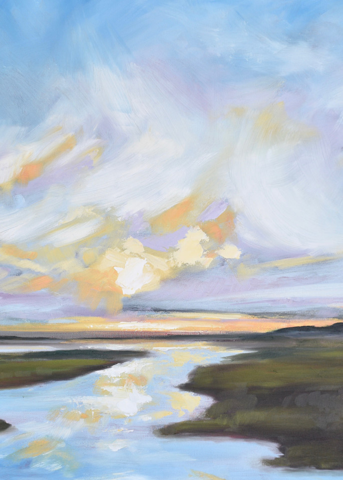 Giclee Print Lowcountry Daybreak - Square- by April Moffatt