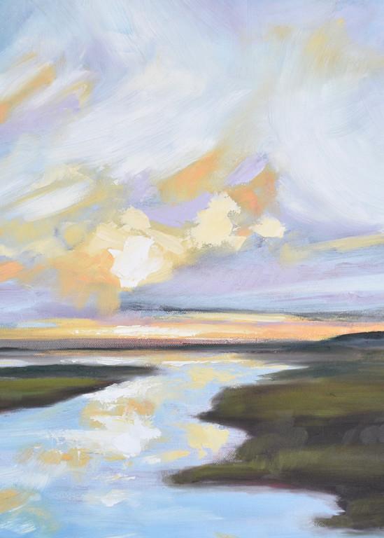 Giclee Print Lowcountry Daybreak - Landscape- by April Moffatt