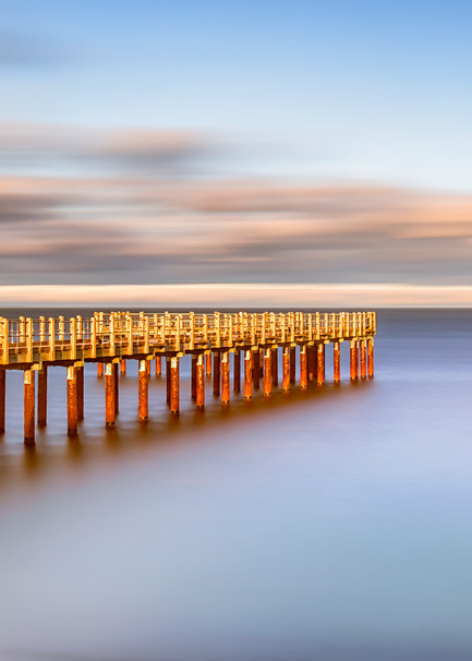 Fishing Pier Day Time Long Exposure Art | Michael Blanchard Inspirational Photography - Crossroads Gallery