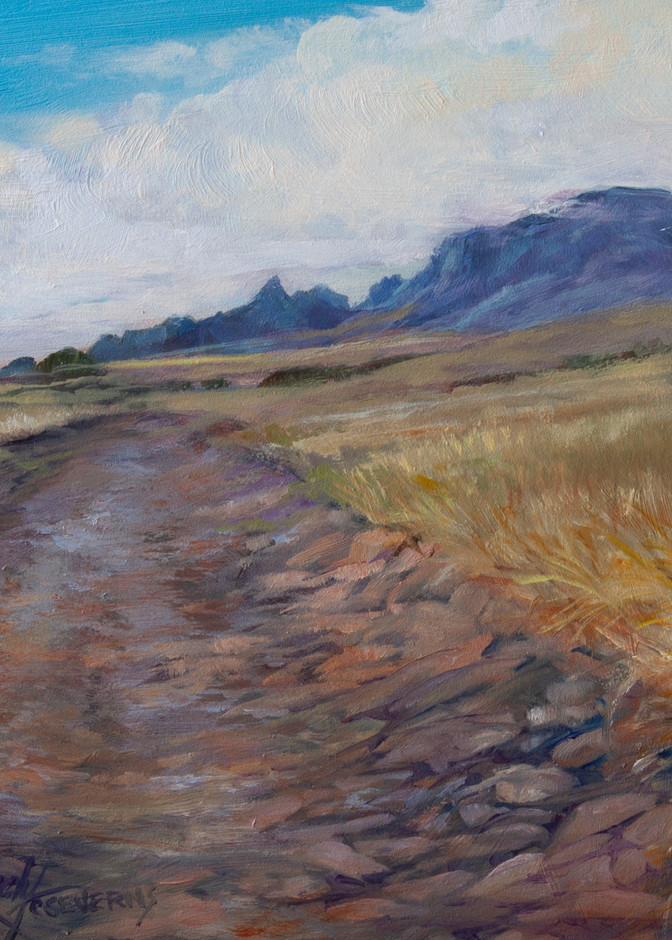 Lindy Cook Severns Art | The Rocky Road to Chinati, print