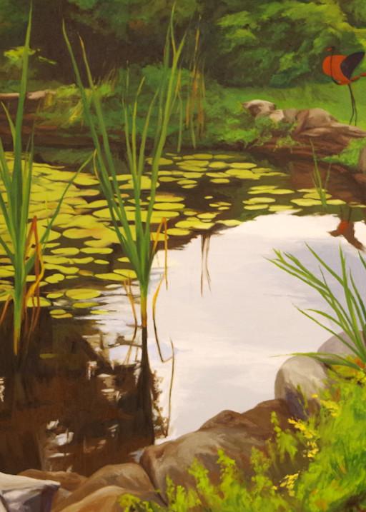 Pond Garden In Spring Art | Helen Vaughn Fine Art