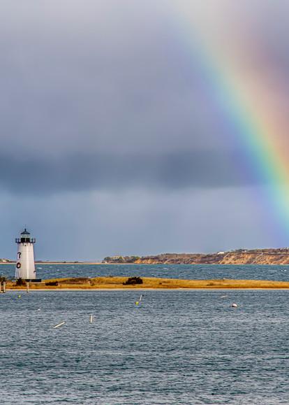 Edgartown Light Winter Rainbow Art | Michael Blanchard Inspirational Photography - Crossroads Gallery