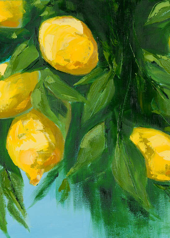 Giclee Print Italian Lemons Art by April Moffatt
