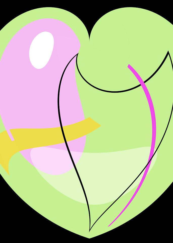 Pastel Green Heart Art   karenihirsch