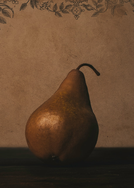 Stillife of a Pear by Nathan Larson Photography