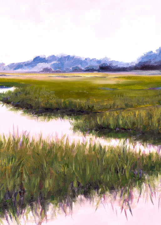 "Giclee Print ""Pink Marsh"" Art by April Moffatt"