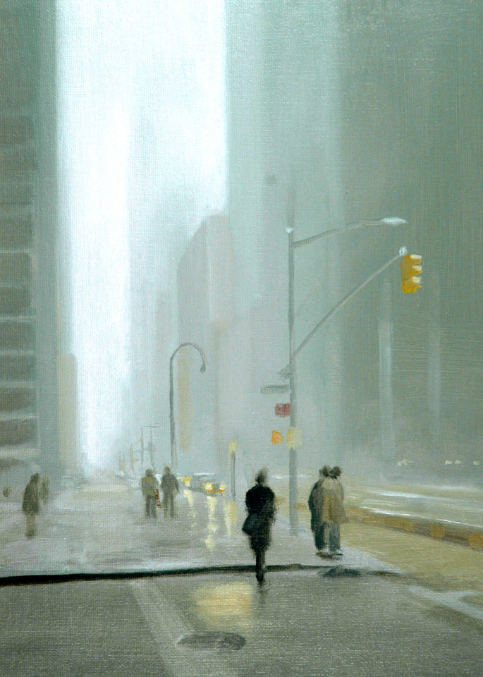 'Light Drizzle' Print of original painting by Ed Little, Bridgewater, CT