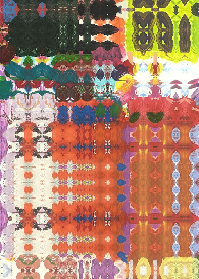 Photographic kaleidoscopic print by Marsha Gray Carrington
