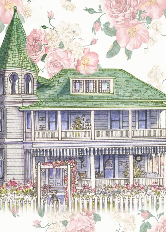 Victorian Rose Home Collage Art   Leisa Collins Art