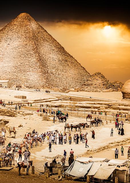 Mysteries of Giza Art Print