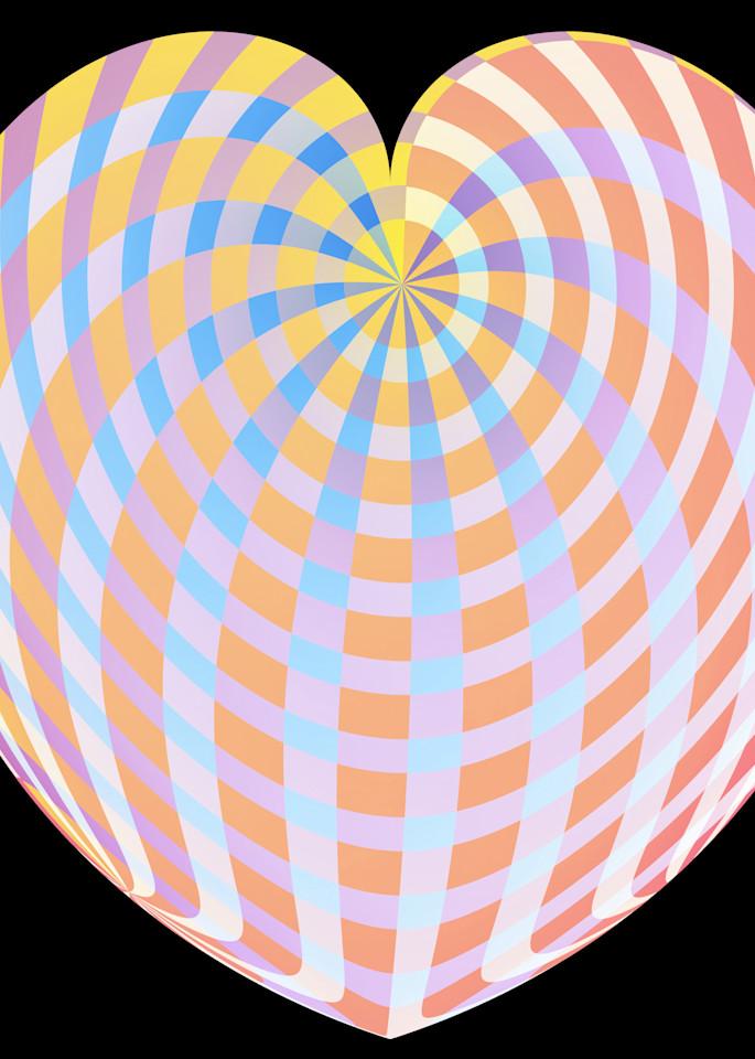 Pastel Plaid Heart Art | karenihirsch