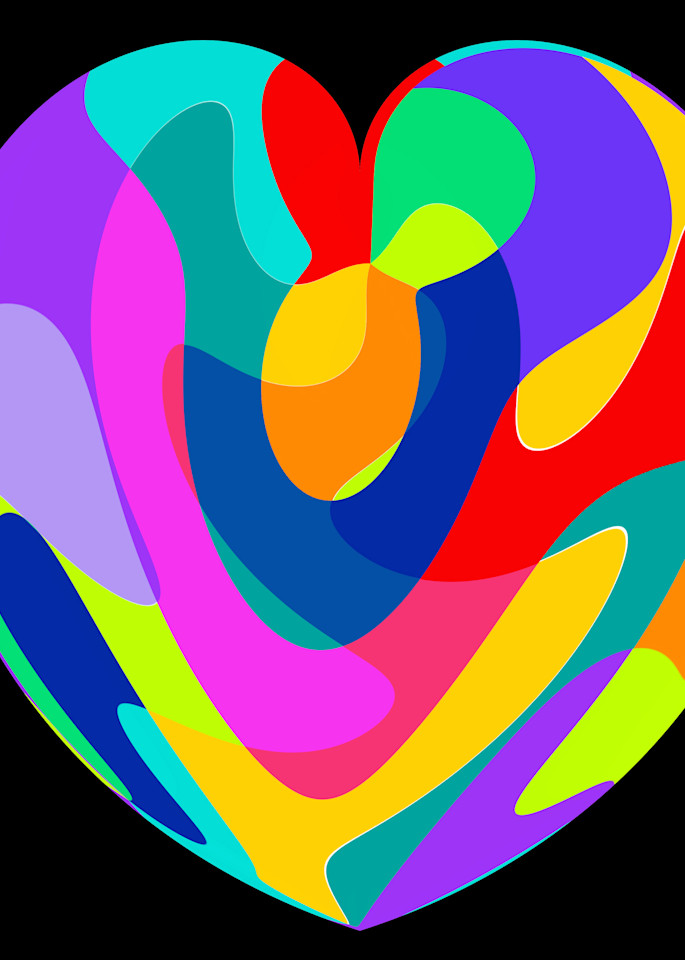 Colorful Heart Art | karenihirsch