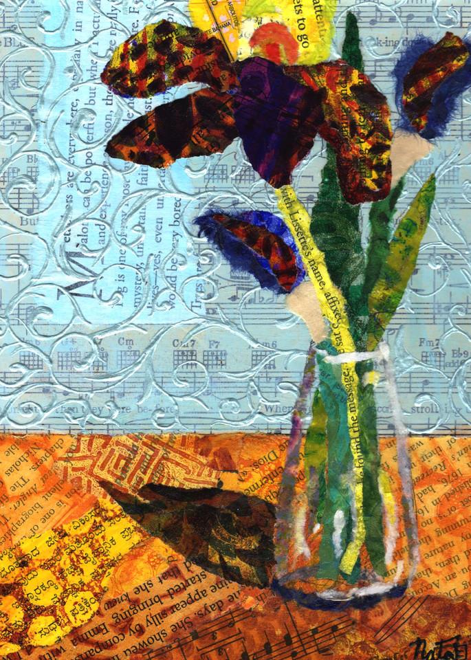 Monica's Iris  Art | Poppyfish Studio