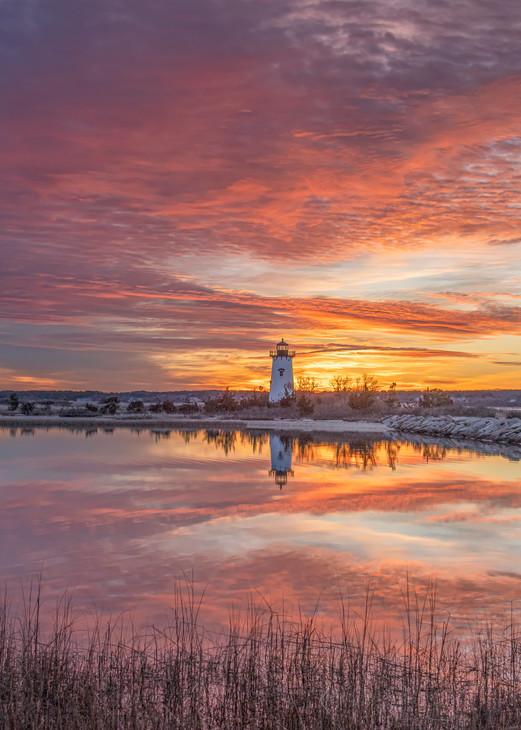 Edgartown Light Winter Reflections Art | Michael Blanchard Inspirational Photography - Crossroads Gallery
