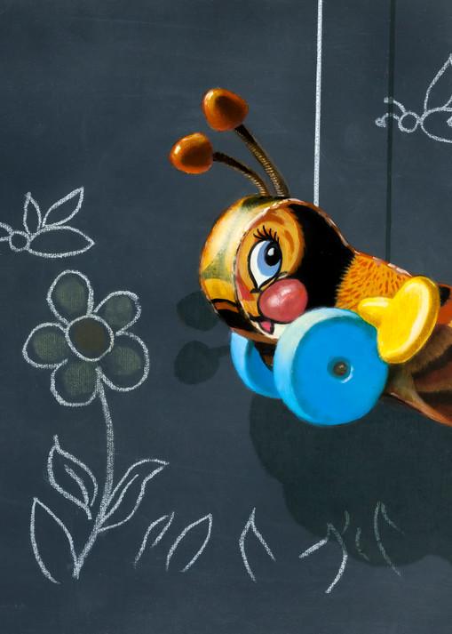 Busy Buzzy Bee Art   Richard Hall Fine Art
