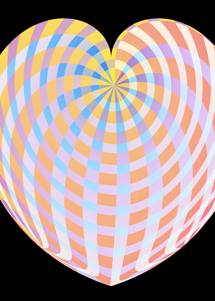 Pastel Plaid Heart/Merch Art | karenihirsch