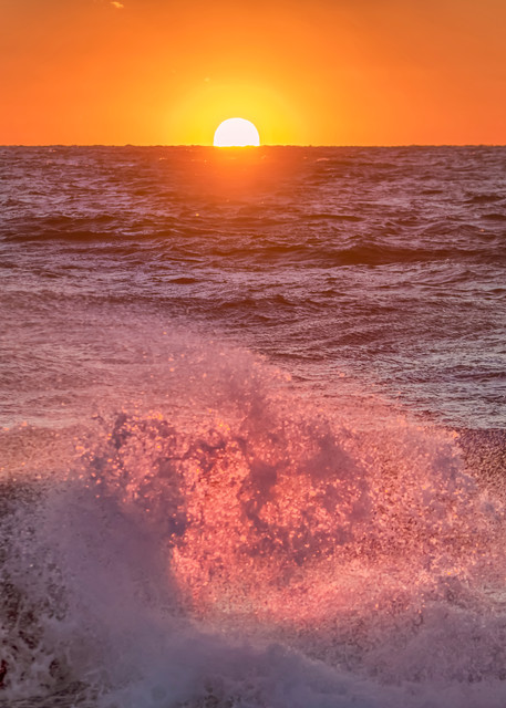 Moshup Beach Fiery Splash Art | Michael Blanchard Inspirational Photography - Crossroads Gallery
