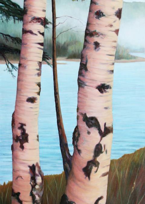 Norwegian Birch Pair  Art | Lidfors Art Studio