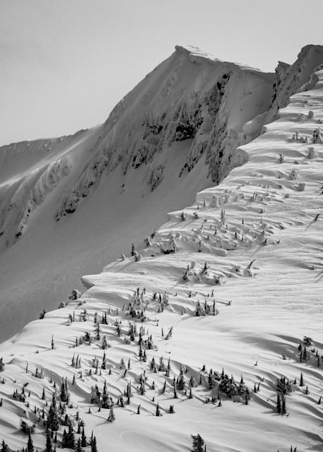 Tom Weager Photography - Windswept Ymir Peak in winter