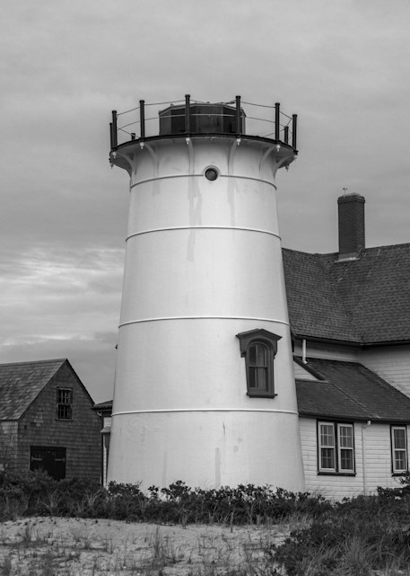 Stage Harbor Light   B&W Photography Art   The Colors of Chatham