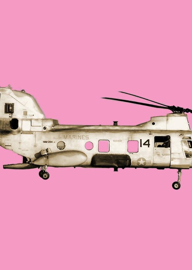 Pink Copter Art | Wanderlust in ART