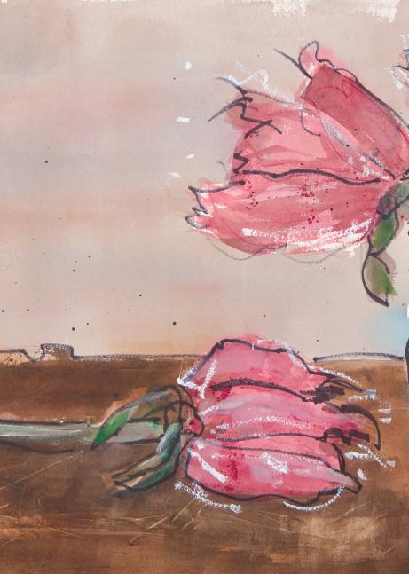 #14 Three Reds And A Vase Art | Elaine Schaefer Hudson Art