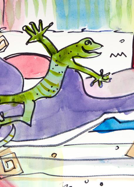 Theres A Lizard In My Closet Art | Elaine Schaefer Hudson Art