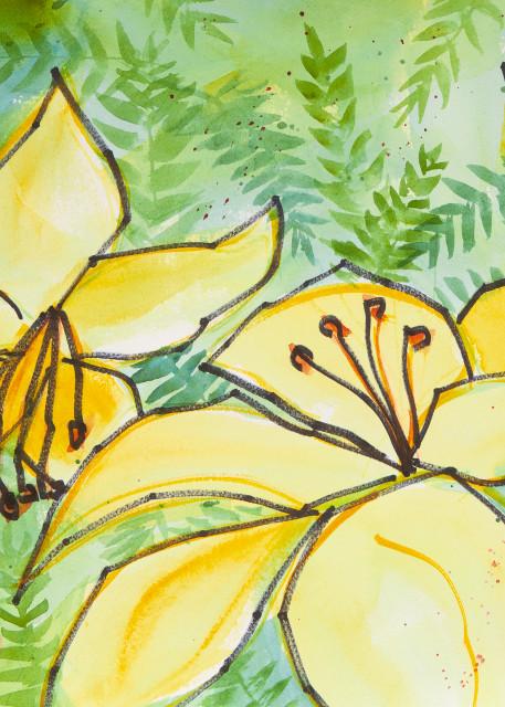 #6 Yellow Lillies Art   Elaine Schaefer Hudson Art