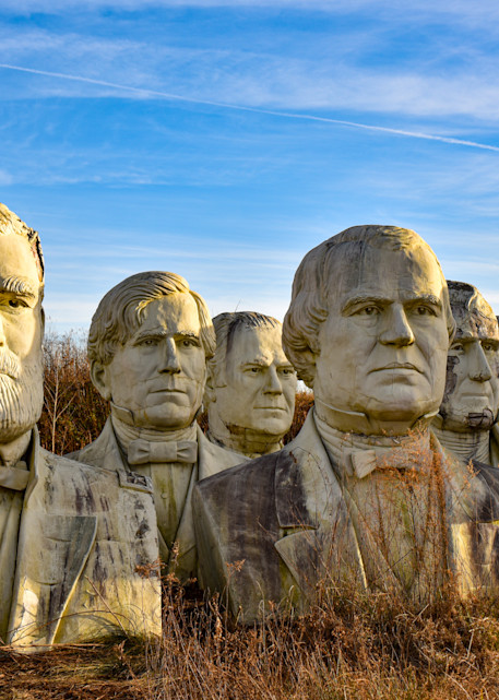 Grouping of presidents from the Ruins of Presidents Park in Virginia.