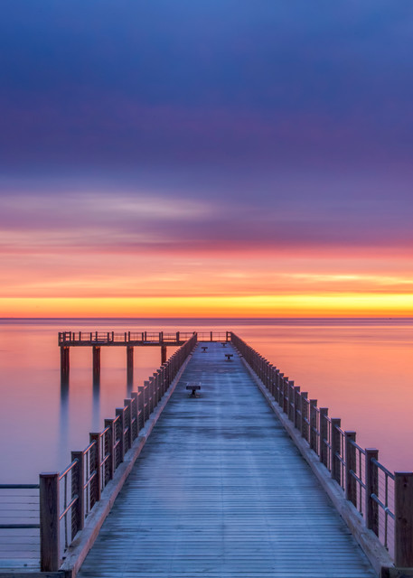 Fishing Pier Winter Sunrise Art | Michael Blanchard Inspirational Photography - Crossroads Gallery