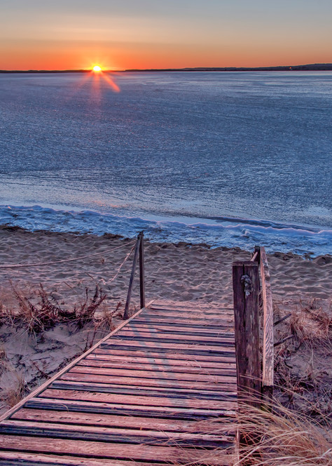 Long Point Frozen Sunset Art | Michael Blanchard Inspirational Photography - Crossroads Gallery