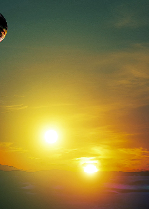 Sunset On Earth Two Art | Don White-Art Dreamer