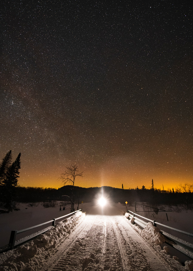Snowmobile Trail 1 Stars Photography Art   Kurt Gardner Photogarphy Gallery