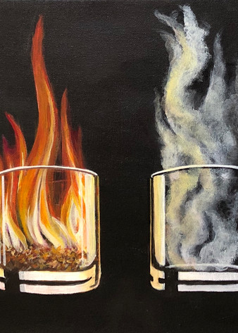 Elements In A Whiskey Glass Art | House of Fey Art