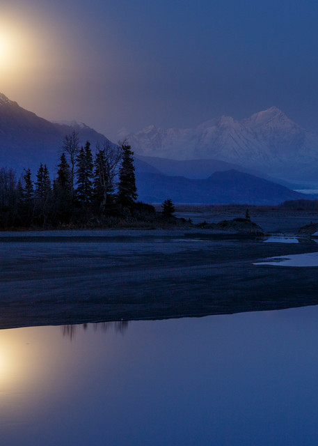 Knik River Moonrise