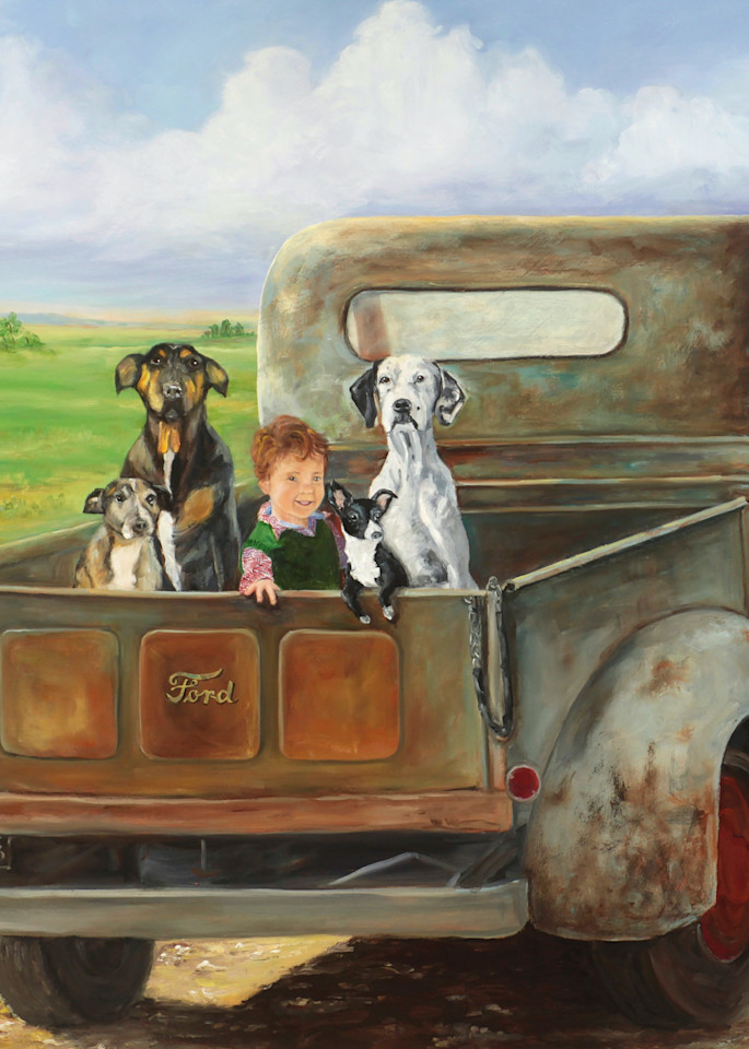 A Boy And His Dogs Art | Marsha Clements Art