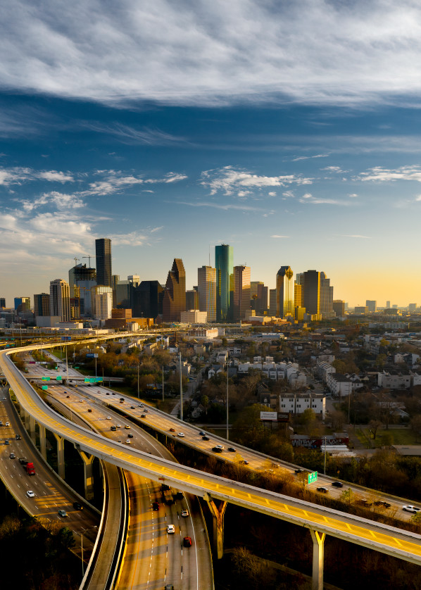 Aerial Image of The Skyline of Downtown Houston, Texas