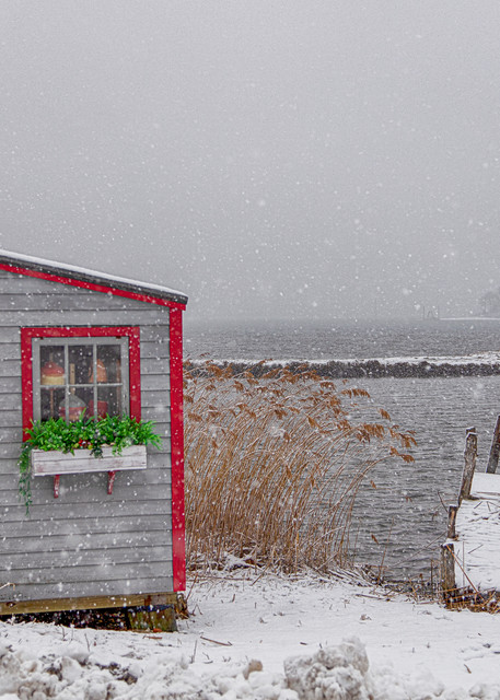 Lagoon Pond Clam Shack Snow Art | Michael Blanchard Inspirational Photography - Crossroads Gallery