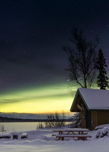 Denali Lights over Cabin