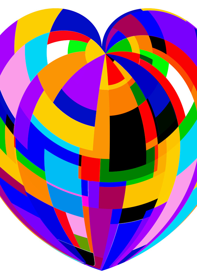 Heart Of Rectangles   White Background Art | karenihirsch