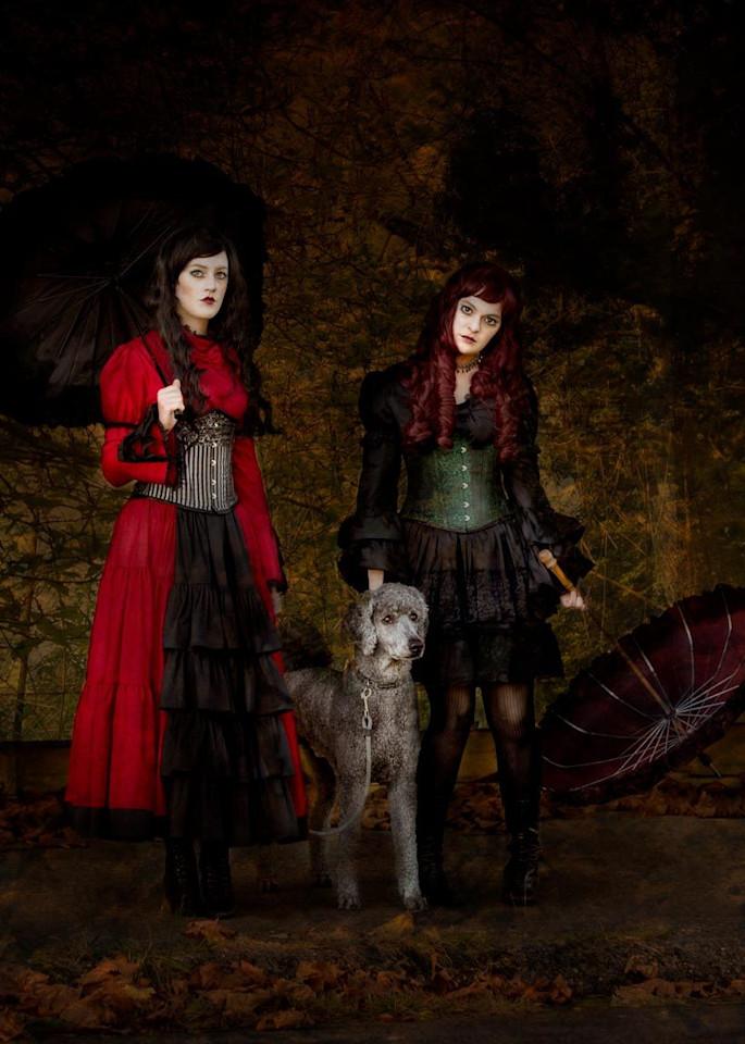 Sister On A Dog Walk Photography Art | Jim Graham Photography