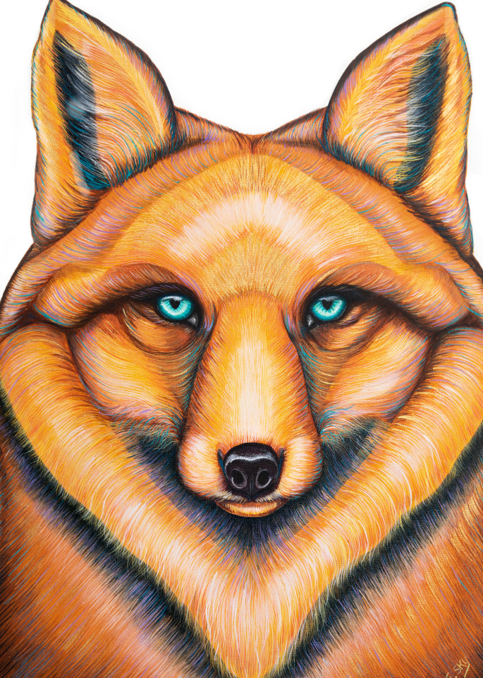 Fox Spirit Animal Print on Canvas and Paper