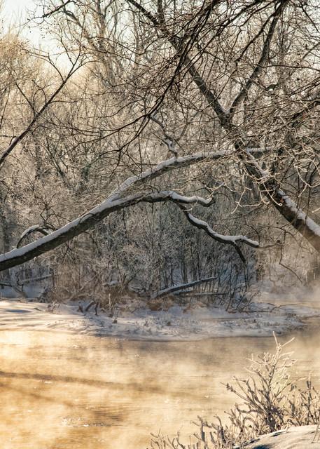Around The Curve  Winter Sunrise Shot At Sprint River 3464 Art | Koral Martin Fine Art Photography